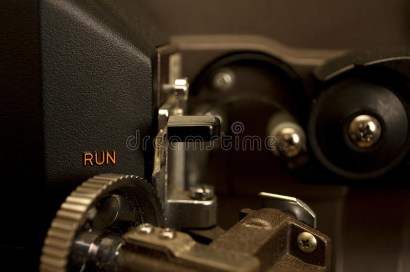 Film projector close-up stock photo