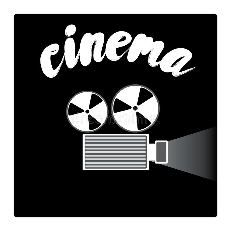 Film projector in a flat style. Vector illustration. Cinema. Film projector in a flat style. Vector illustration stock illustration