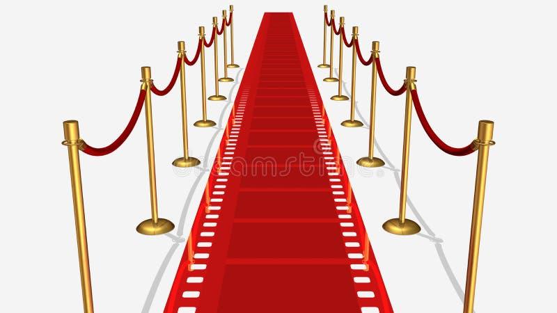 Film Red Carpet Top View stock image