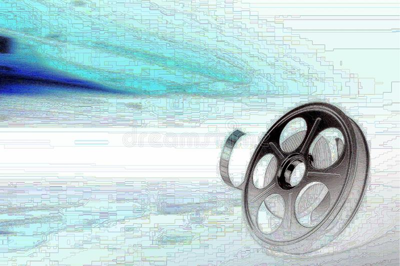 Download Film reel stock illustration. Image of isolated, cinematography - 12621088