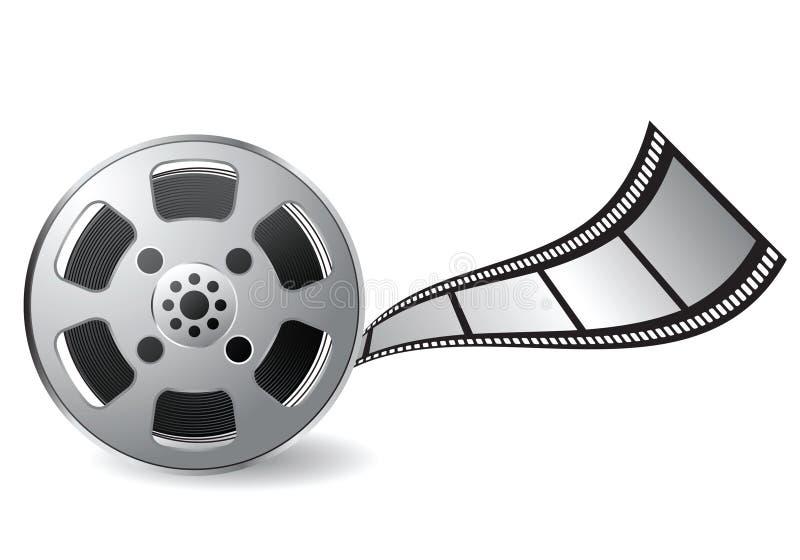Film reel vector illustration