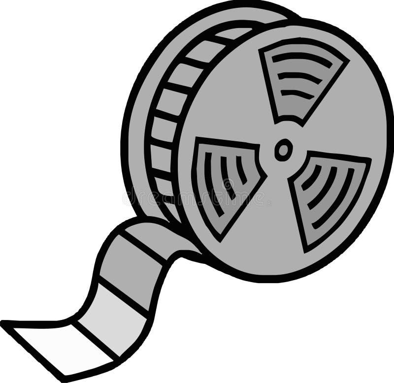 Film reel. Retro film cinema family old 8mm vector illustration