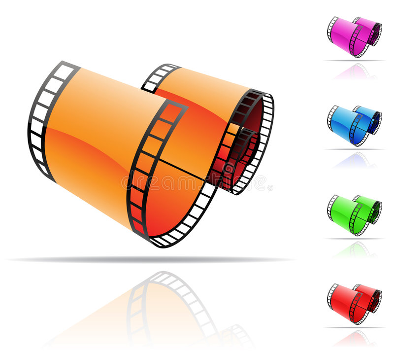 Download Film reel stock vector. Image of design, footage, entertainment - 9210919