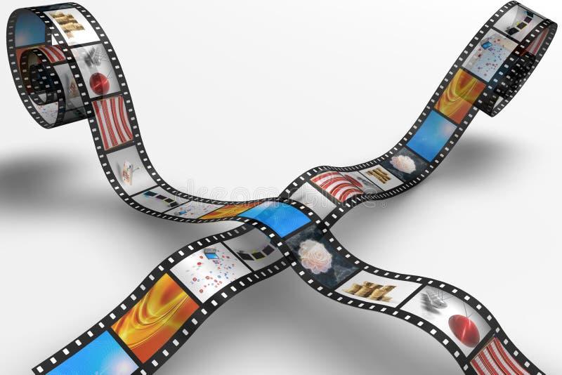 Film reel stock illustration