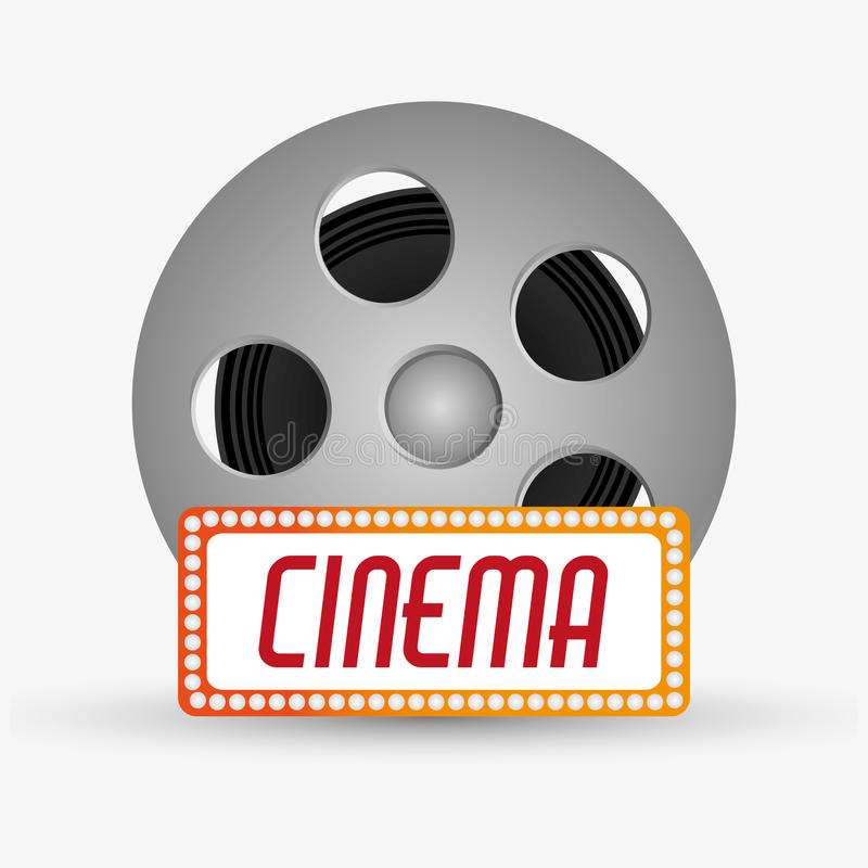 Film reel cinema and movie design. Film reel icon. Cinema movie video film and entertainment theme. Colorful design. Vector illustration vector illustration
