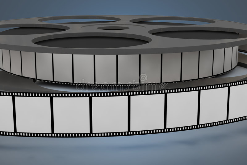 Film reel closeup royalty free stock photography