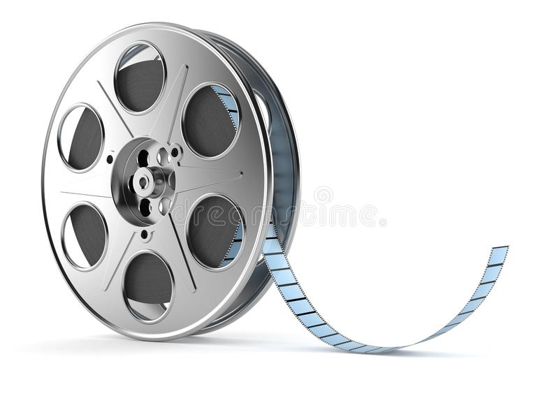 Film reel. Isolated on white background vector illustration