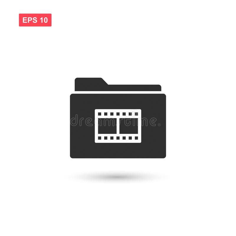Film reel folder vector icon design isolated 2 royalty free illustration