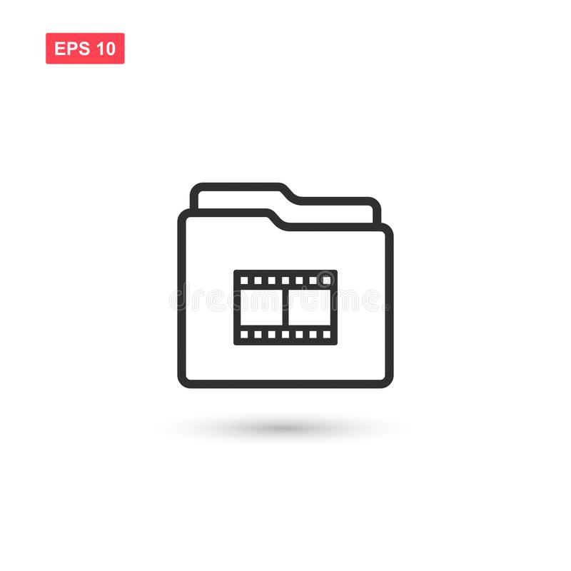 Film reel folder vector icon design isolated royalty free illustration