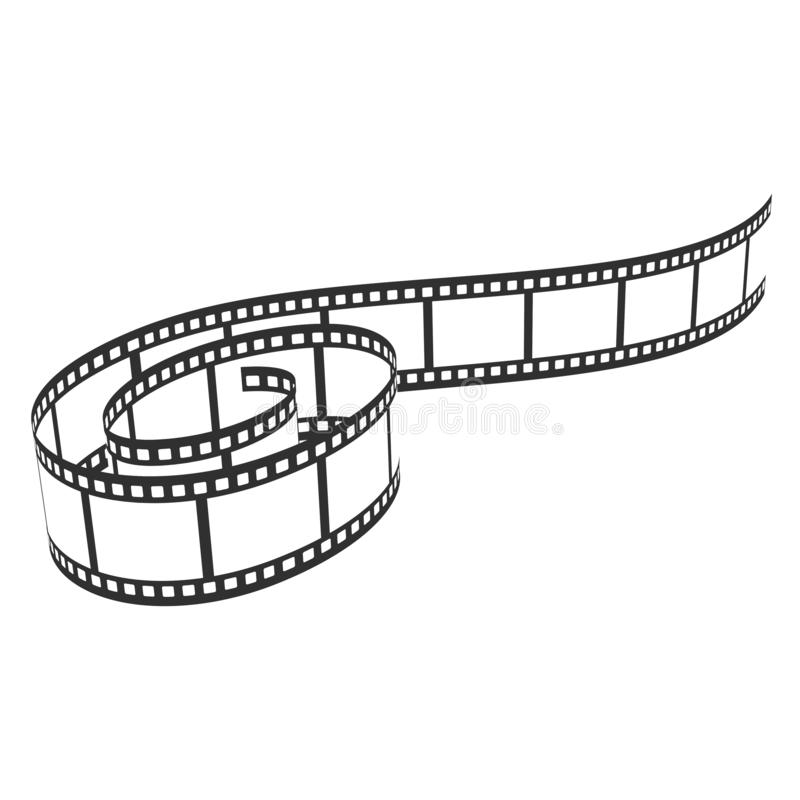 Film reel icon, cinema and movie filmstrip vector illustration