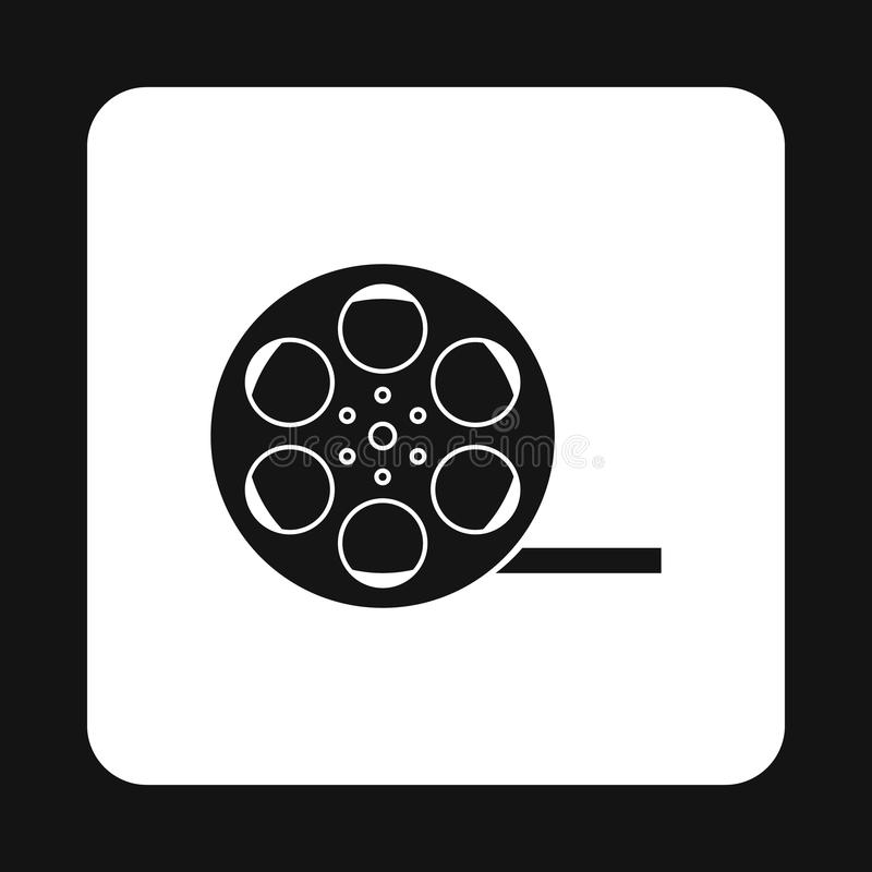 Film reel icon in simple style stock illustration