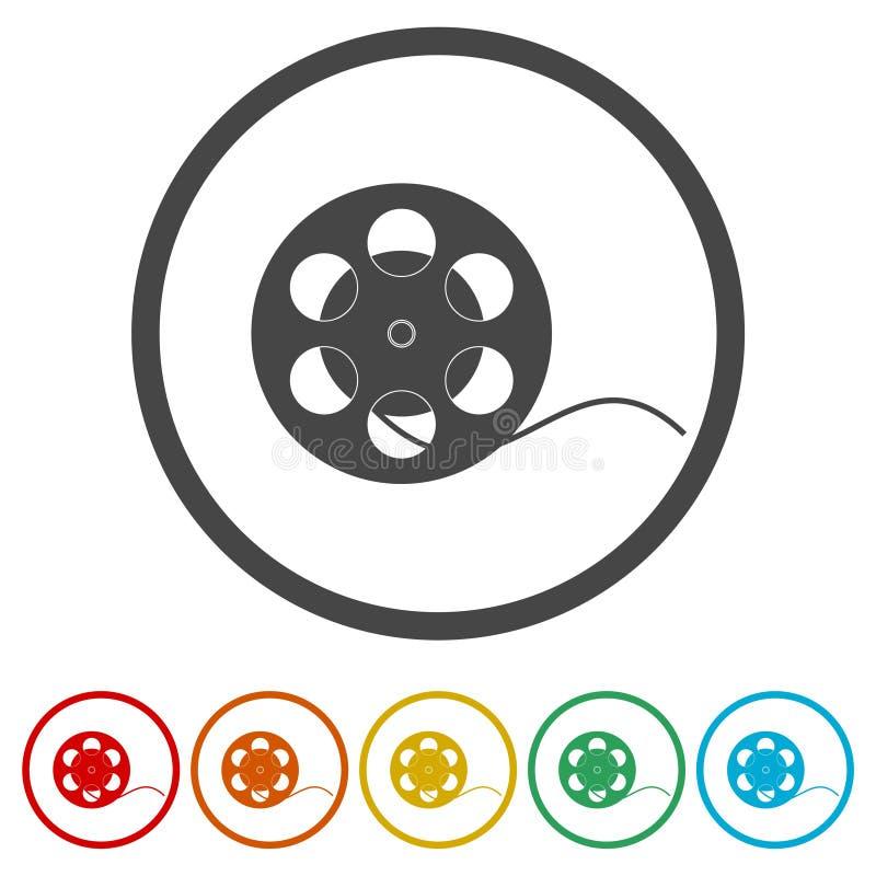 Film reel Icon stock illustration