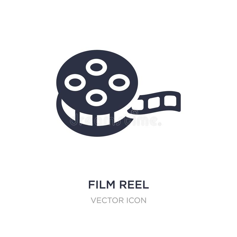 film reel icon on white background. Simple element illustration from Blogger and influencer concept vector illustration
