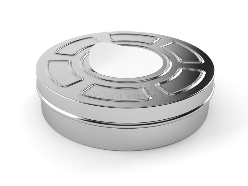 Film reel. Isolated on white background royalty free illustration