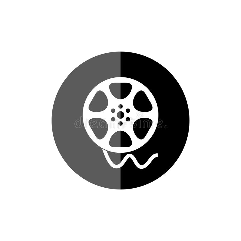 Film reel movie, The video icon, Movie symbol. On white background royalty free illustration