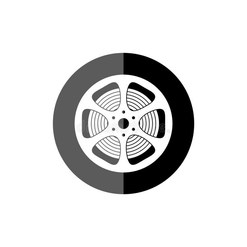 Film reel movie, The video icon, Movie symbol. On white background stock illustration