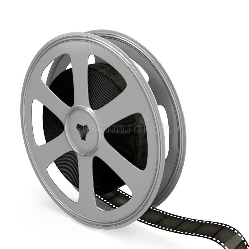 Film reel over white background. stock illustration
