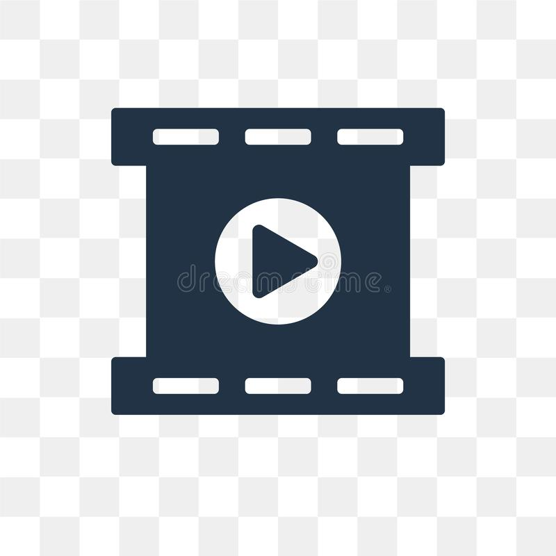 Film Reel Playing vector icon isolated on transparent background royalty free illustration