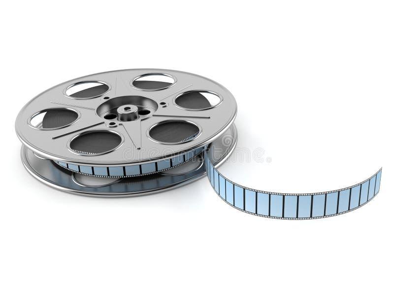 Film reel. On white background stock illustration