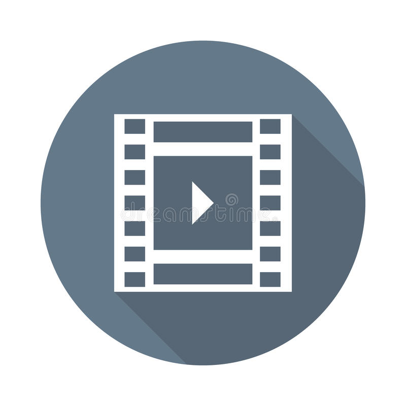 Film reell icon. Film reel Glyphs Shadow Icon vector illustration