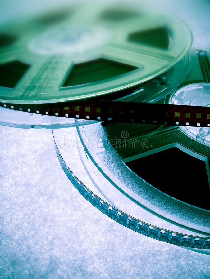 Film reels. Cinema industry concept royalty free stock images