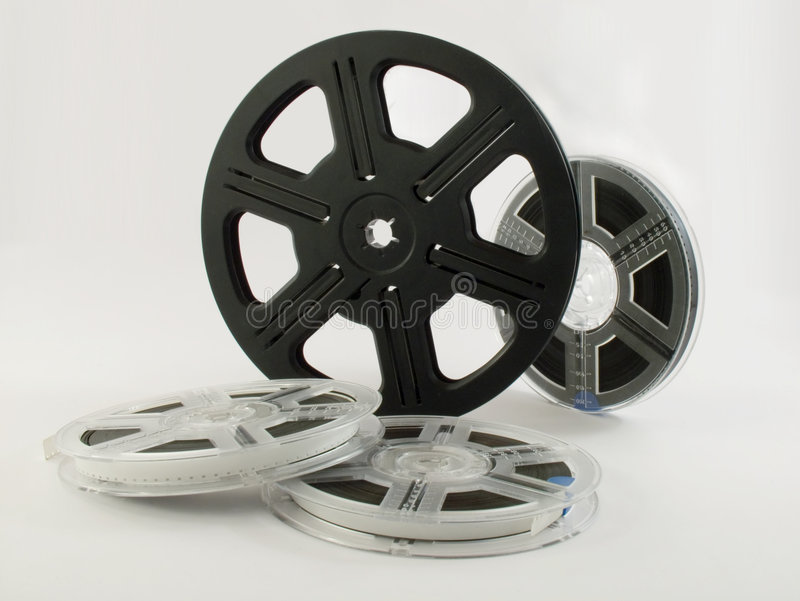 Download Film reels with films 4 stock image. Image of background - 512507