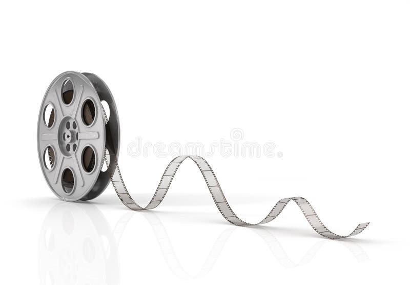 Film reels. On a white background stock illustration