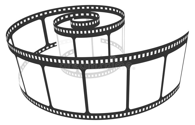 film remsan vektor illustrationer