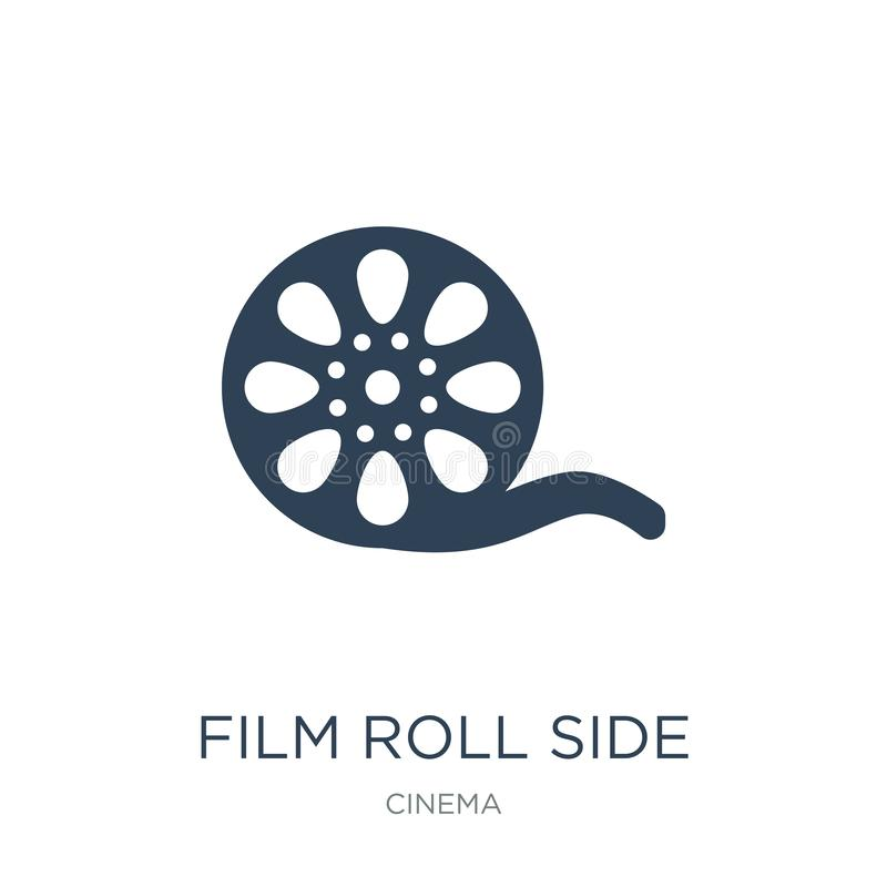 film roll side view icon in trendy design style. film roll side view icon isolated on white background. film roll side view vector vector illustration