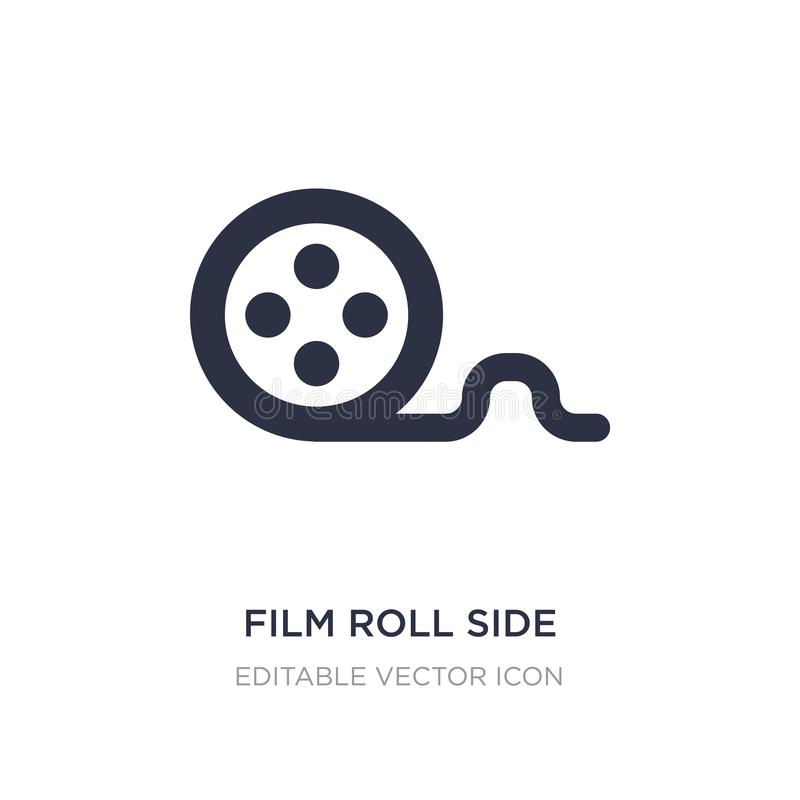 film roll side view icon on white background. Simple element illustration from Cinema concept royalty free illustration