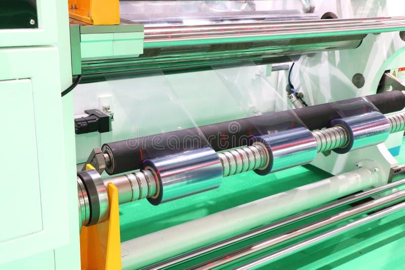 Film Roll slitting machine stock images