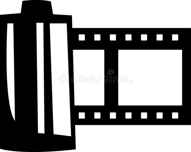 Film roll vector illustration royalty free illustration