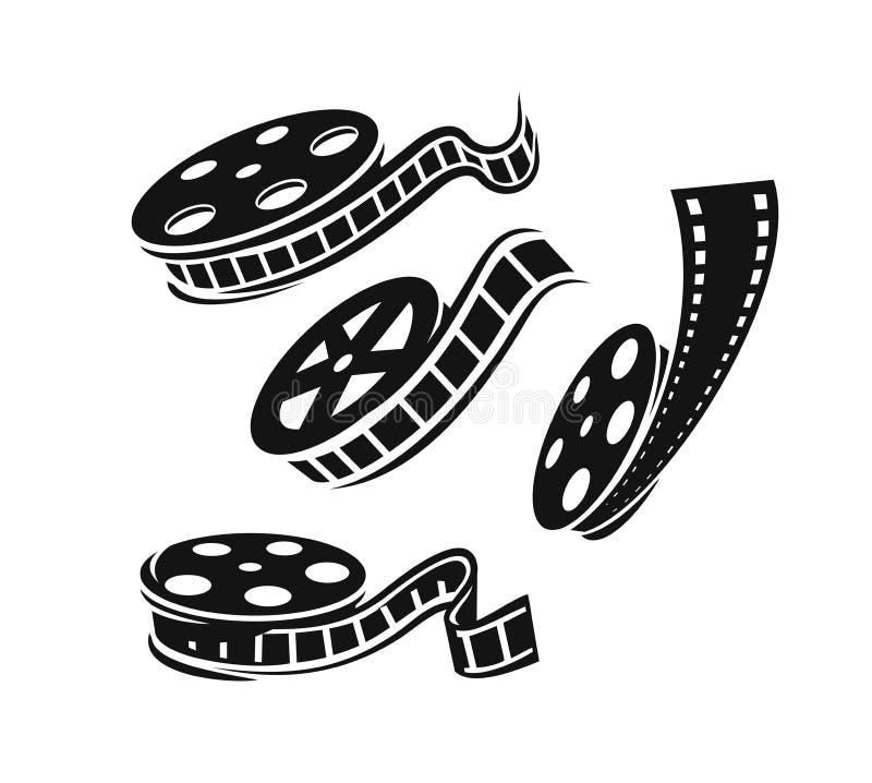 Film roll vector. Film roll logo vector black cinema and movie vector illustration