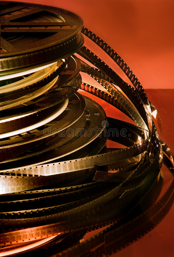 Film rolls royalty free stock photography