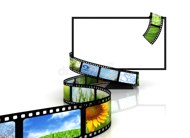 Film rond lege TV stock illustratie