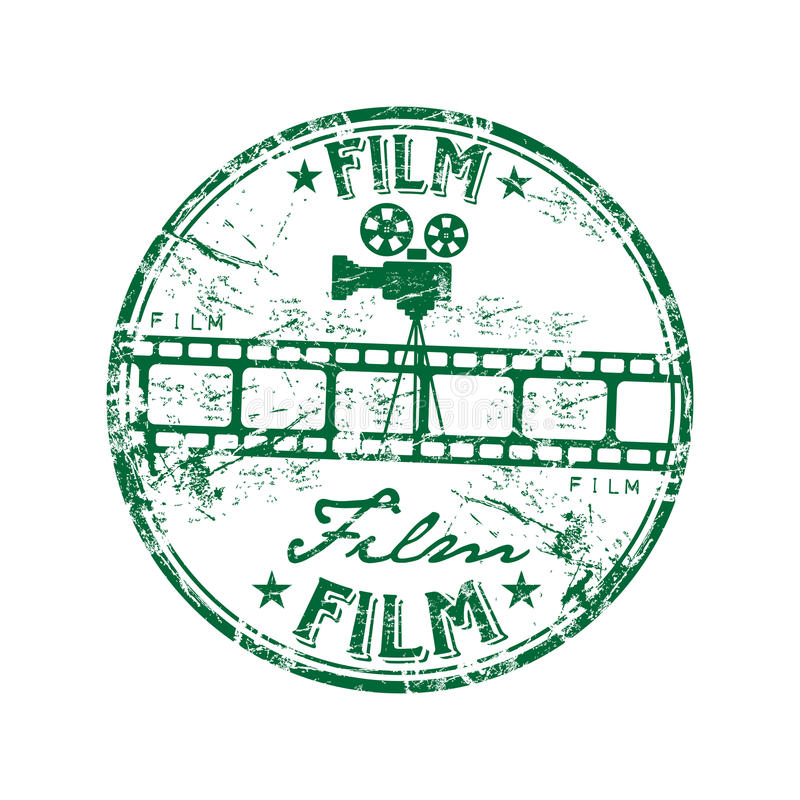 Download Film rubber stamp stock vector. Image of graphic, label - 9398202