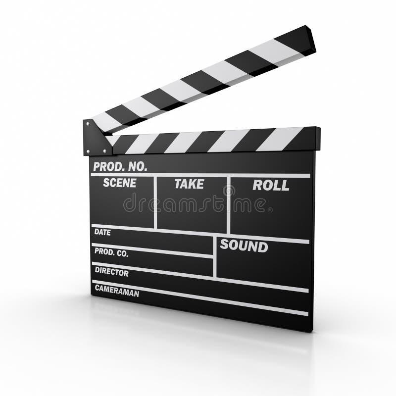 Film-Schiefer lizenzfreie abbildung