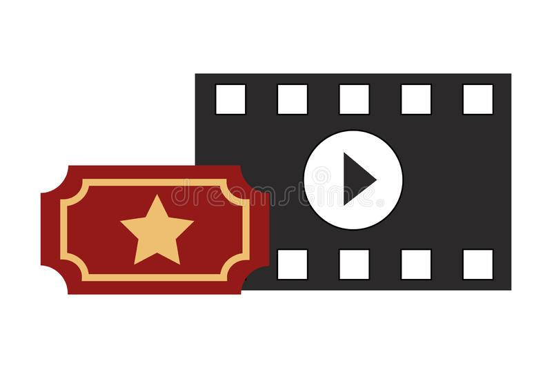 Film set objects icon vector illustration
