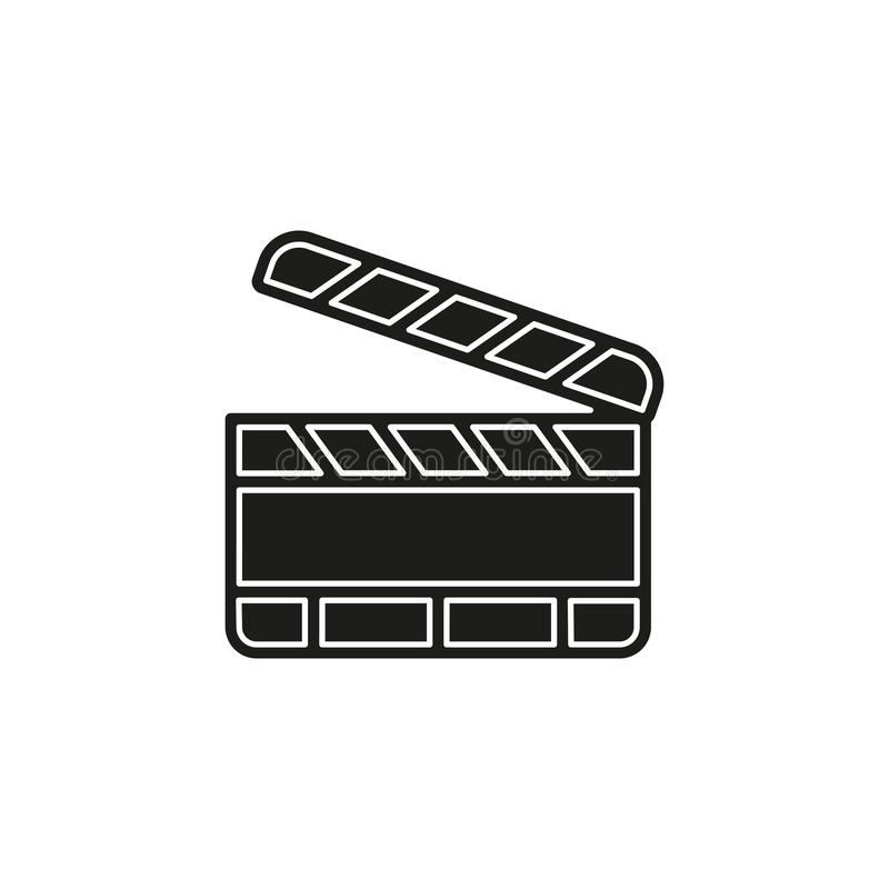 Film slate - vector clip play button icon. Movie media symbol - start watch or play video. Flat pictogram - simple icon stock illustration