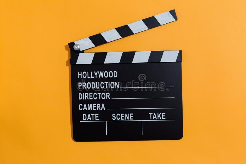 Film slateboard Scharnierventil lizenzfreie stockfotos