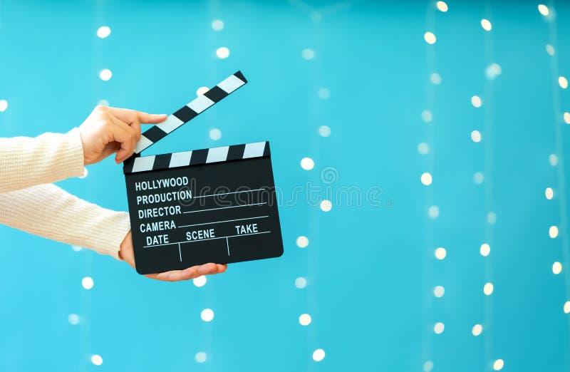 Film slateboard Scharnierventil stockbild
