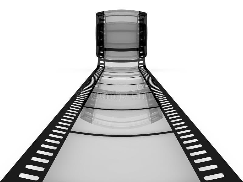 Film som a långt till framtid vektor illustrationer