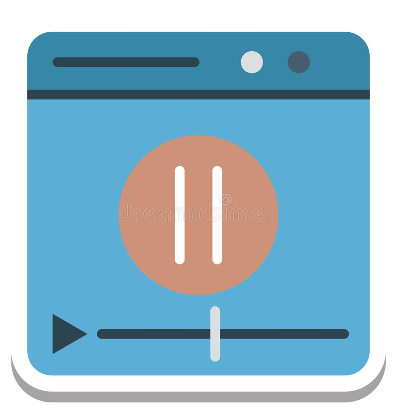 Film-Spieler, Video-Player lokalisierte Vektor-Ikone lizenzfreie abbildung