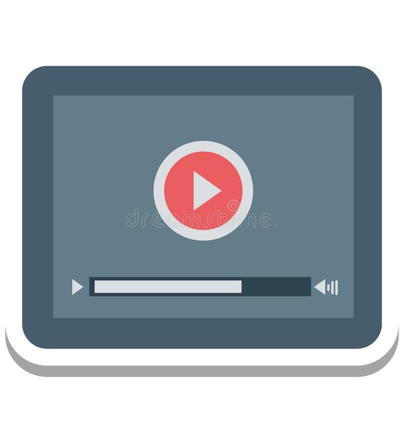 Film-Spieler, Video-Player lokalisierte Vektor-Ikone stock abbildung