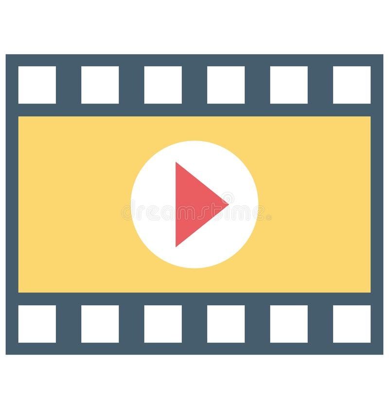 Film-Spieler, Video-Player-Vektor-Ikone stock abbildung