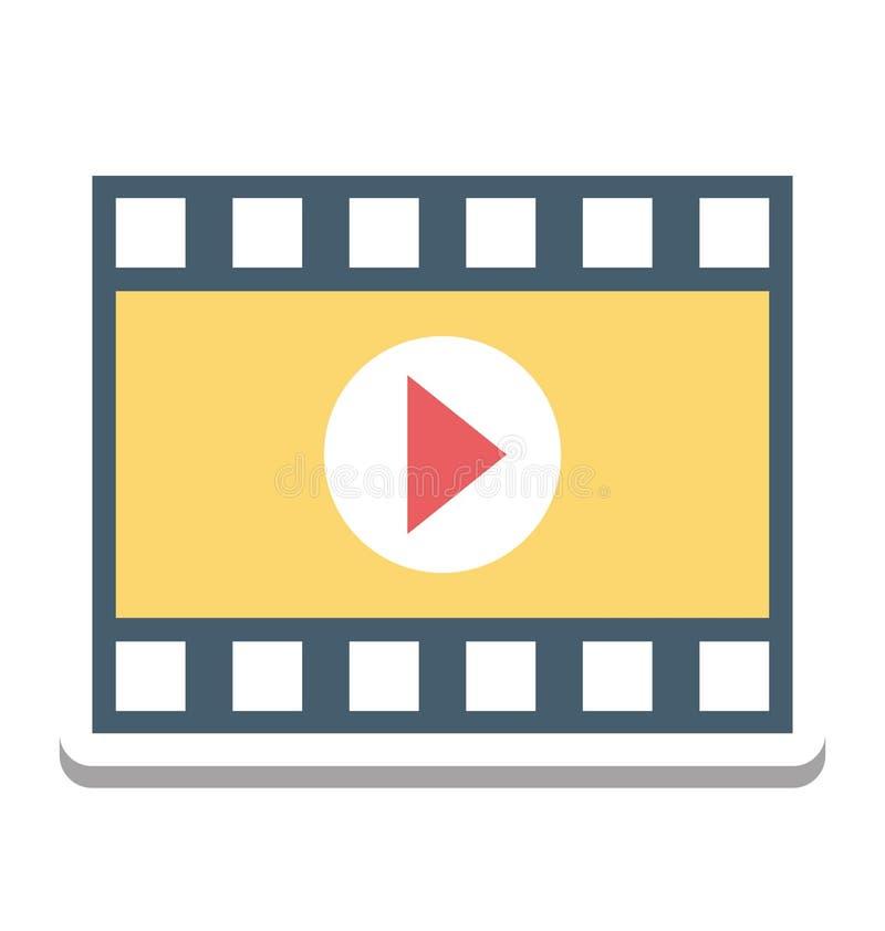 Film-Spieler, Video-Player-Vektor-Ikone editable lizenzfreie abbildung
