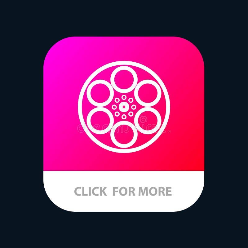 Film, Film, Spoel, Tank, de Knoop van de Bandmobiele toepassing Android en IOS Lijnversie royalty-vrije illustratie