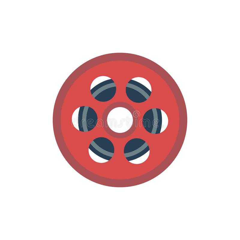 Film-Spulen-Ikone lizenzfreie abbildung