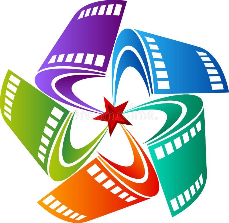 Film Star design. Illustration art of a Film Star design with isolated background stock illustration