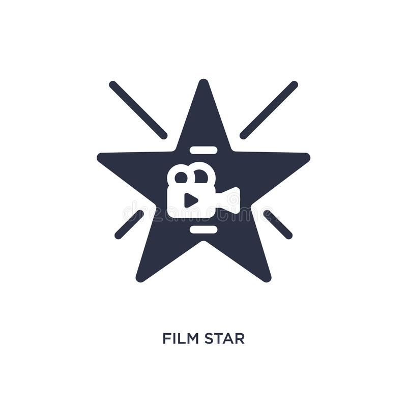 film star icon on white background. Simple element illustration from cinema concept vector illustration